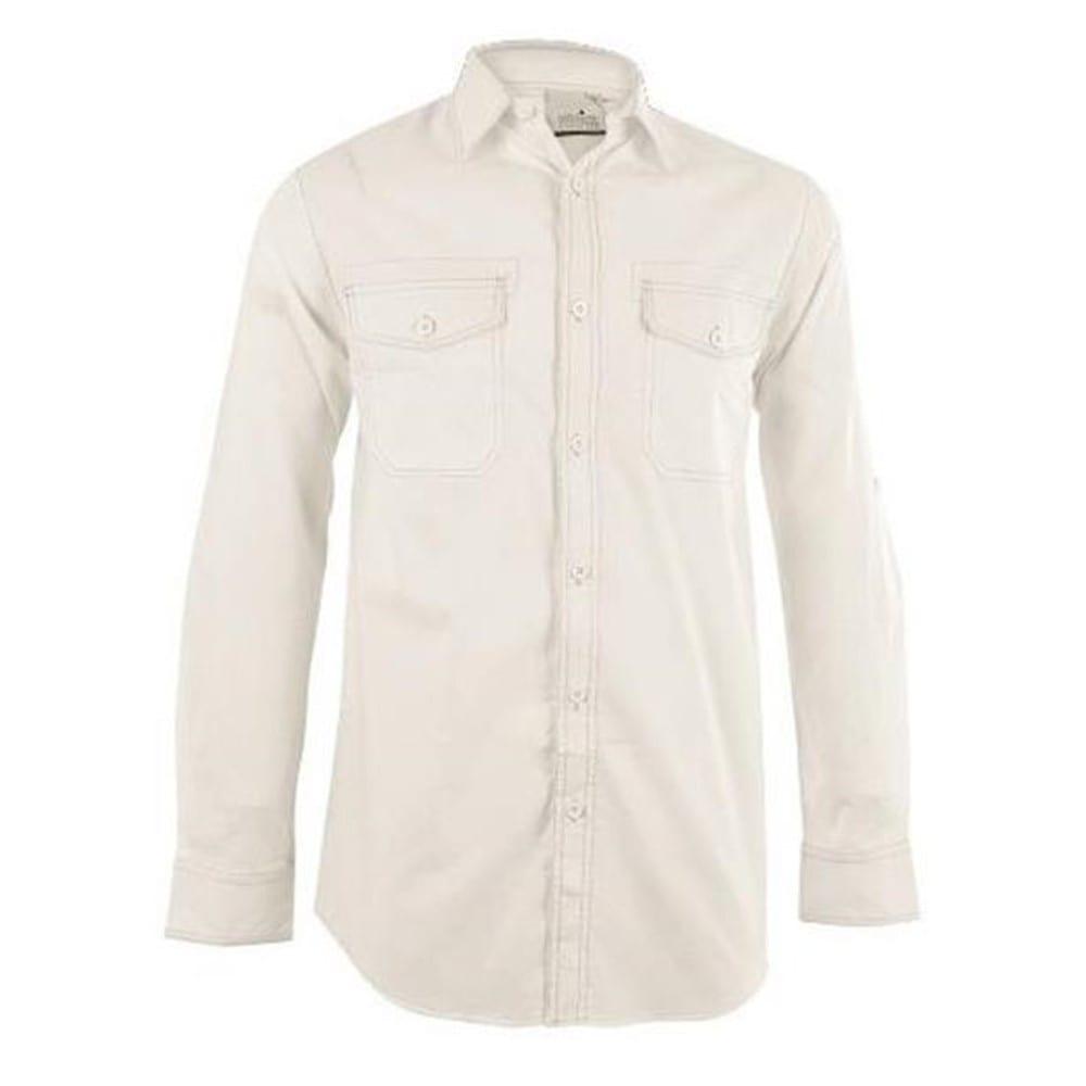Mens Long Sleeve Inyala Shirt - M, White