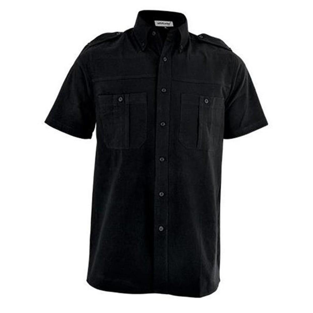 Mens Tracker Short Sleeve Shirt - XL, Black