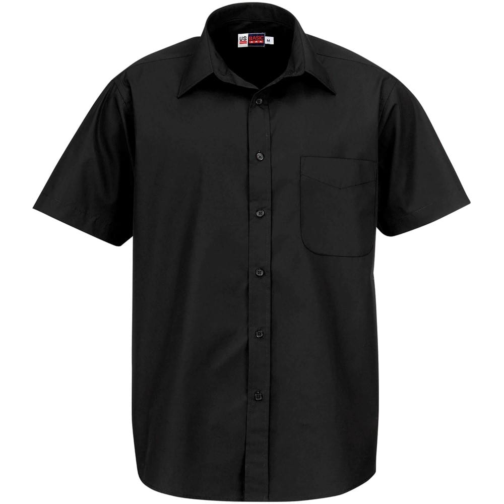 Mens Short Sleeve Washington Shirt - XL, Black