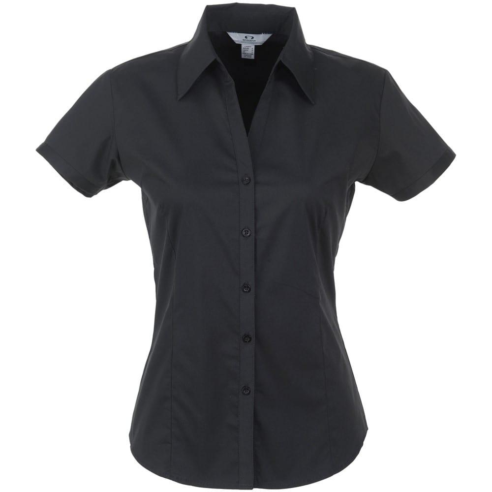 Ladies Short Sleeve Metro Shirt - S, Black